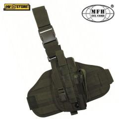 Fondina Cosciale Universale per Pistola MFH Holster Security Cordura Oliv Green