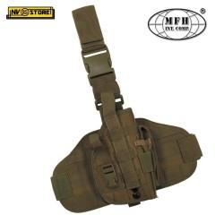 Fondina Cosciale Universale per Pistola MFH Holster Security Cordura Coyote Tan