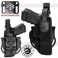 Fondina VEGA HOLSTER T2 per Beretta 92/98 Cordura con Sicura e Supporti INCLUSI