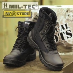 Stivali Anfibi Militari Boots Security MILTEC Thinsulate 3M Pelle Leather ZIP BK