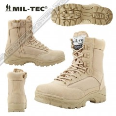 Stivali Anfibi Militari Boots Security MILTEC Thinsulate 3M Pelle Leather ZIP KH