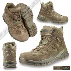 Stivali Anfibi Militari TEESAR MULTICAM TM Boots Security MILTEC Pelle Leather
