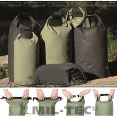 MIL-TEC DRY BAG VERDE 50 Lt IMPERMEABILE 100% x RAFTING PESCA BARCA VELA CAMPING