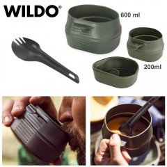 WILDO FOLD A CUP Set di 3 Pezzi Piatto 600 ml + Tazza 200 ml + Postata 3 in 1