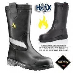 Scarpe Stivali VIGILI DEL FUOCO in Vera Pelle e GORETEX Boots Leather Pompieri