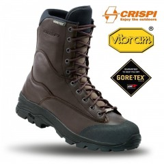 CRISPI Tiger GTX Brown Anfibi Militari GORETEX Boots Security Vera Pelle Leather