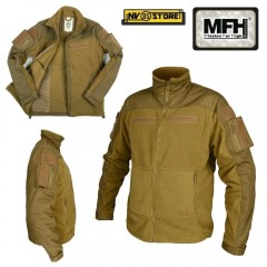 Felpa MFH Combat Tan Multitasche Vest Tattica Caccia Militare Softair Survivor