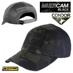 CAPPELLO BERRETTO CONDOR MULTICAM BLACK MESH ORIGINALE US ARMY MILITARE SOFTAIR BK