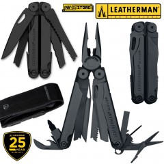 LEATHERMAN WAVE BLACK PINZA MULTIFUNZIONE PLIER MULTITOOL + FODERO IN PELLE