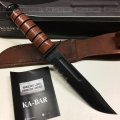 KNIFE COLTELLO KA-BAR USMC **ORIGINALE 100% MADE IN USA** SURVIVOR CACCIA (1218)