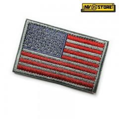 Patch Bassa Visibilità USA Stati Uniti America 8x5 Militare Softair Velcrogrip Red