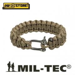 Bracciale Braccialetto MILTEC PARACORD Bracelet 1,9 cm Treccia 17, 20, 23 cm TAN