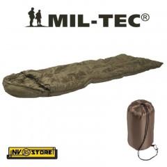 Sacco a Pelo Sleeping Bag MIL-TEC Temperatura + 15° Extreme +5° Verde OD