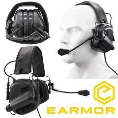 Cuffie EARMOR Opsmen M32 MOD1 Riduzione Rumore + NRR22 Militari e da Poligono BK
