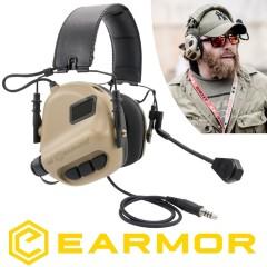 Cuffie EARMOR Opsmen M32 MOD1 Riduzione Rumore + NRR22 Militari e da Poligono DS