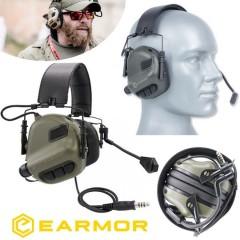 Cuffie EARMOR Opsmen M32 MOD1 Riduzione Rumore + NRR22 Militari e da Poligono FG