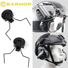 Set di Adattatori Supporti per Cuffie EARMOR Opsmen per Montaggio su Elmetti BK