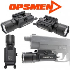 Torcia per Pistola OPSMEN Fast 401 Ultra 800 Lum LED Weapon-Light Attacco Weaver
