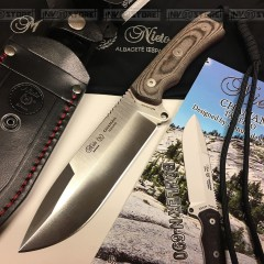 KNIFE COLTELLO MIGUEL NIETO CHAMAN 141KB INOX BOHLER N-690 Co BUSHCRAFT SURVIVOR