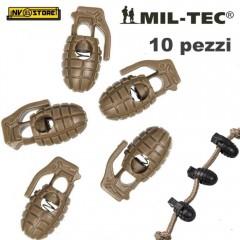 Set 10 Pezzi di Cord Stopper Pineapple Granata MILTEC Ferma Cavo PARACORD CY