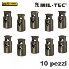 Set 10 Pezzi di Cord Stopper MILTEC Ferma Cavo con Molla per Cordino PARACORD OD
