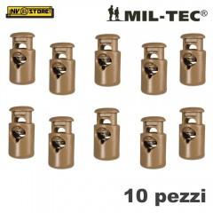 Set 10 Pezzi di Cord Stopper MILTEC Ferma Cavo con Molla per Cordino PARACORD CY