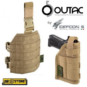 Fondina Cosciale Universale per Pistola OUTAC by DEFCON 5 Holster Cordura Coyote