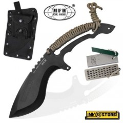KNIFE COLTELLO DA CACCIA MFH BLACK HAWK SURVIVOR SOPRAVVIVENZA SURVIVAL TRACKER