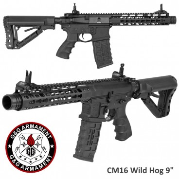 "Fucile Elettrico G&G Armament CM16 Wild Hog 9"" Mosfet Keymod M4 Softair 6mm"