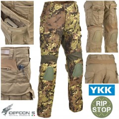 Pantaloni DEFCON 5 Gladio Tactical Pants in RIP-STOP con Ginocchiere VEGETATO