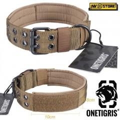 Collare per Cani in Cordura 1000D OneTigris Regolabile Militare D-Ring Robusto T