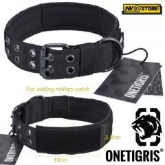 Collare per Cani in Cordura 1000D OneTigris Regolabile Militare D-Ring Robusto B