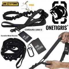 Guinzaglio per Cani Cordura 1000D OneTigris Moschettone Rinforzato Militare BK