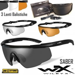 WILEY-X Saber Occhiali Balistici Protezione Balistica 3 Lenti Intercambiabili