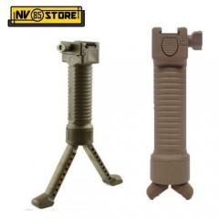Impugnatura e Bipiede Richiudibile per Fucile Attacco 20mm Slitta RIS Weawer Tan