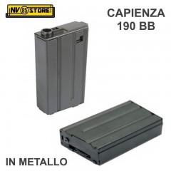 Caricatore Corto per Fucile Softair M4 Capienza 190BB in Metallo Ottima Qualità