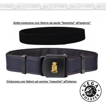 Cinturone + Sottocintura Polizia Di Stato VEGA HOLSTER PS05 + 2V61 Cordura Polimero