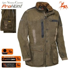 Giaccone Caccia VERNEY-CARRON Pro-Hunting IMPERMEABILE Parka Giacca Giubbotto