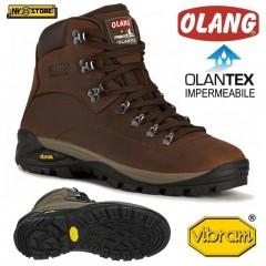 Scarpe OLANG LOGAN-TEX Scarponcini Trekking Boots Anfibi OLANTEX® in Vera Pelle