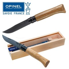 KNIFE OPINEL N° 8 BLACK EDITION COLTELLO DA LAVORO CACCIA PESCA SURVIVOR FOLDING