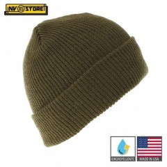 Cappello Berretto LANA 100% Originale Made in USA US Army Idrorepellente OD