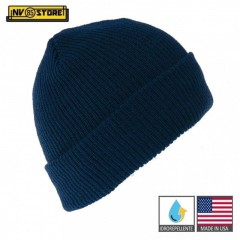 Cappello Berretto LANA 100% Originale Made in USA US Army Idrorepellente Blu NB