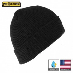Cappello Berretto LANA 100% Originale Made in USA US Army Idrorepellente BK Nero