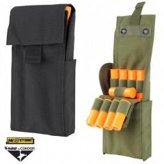 Porta Cartucce 25 celle cal.12 CONDOR MOLLE Nylon 1000D Gilet Tattico Cintura BK