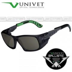Occhiali UNIVET 5X9 BALLISTIC Balistici Lenti con Protezione Balistica SMOKE G15