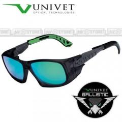 Occhiali UNIVET 5X9 BALLISTIC Balistici Lenti con Protezione Balistica SPECCHIO