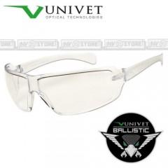 Occhiali UNIVET 553 BALLISTIC Balistici Lenti con Protezione Balistica CLEAR