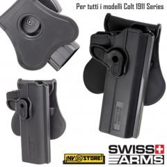 Fondina Pistola Holster SWISS ARMS per COLT 1911 Series Vari Modelli Serie 1911