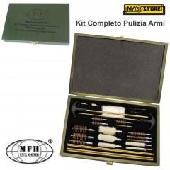 Kit di Pulizia Completo per Armi Pistole Fucili Carabine MFH Scovolini Tamponi