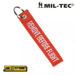 "PORTACHIAVI ""Remove Before Flight"" MILTEC AERONAUTICA ALPHA RED MILITARE"